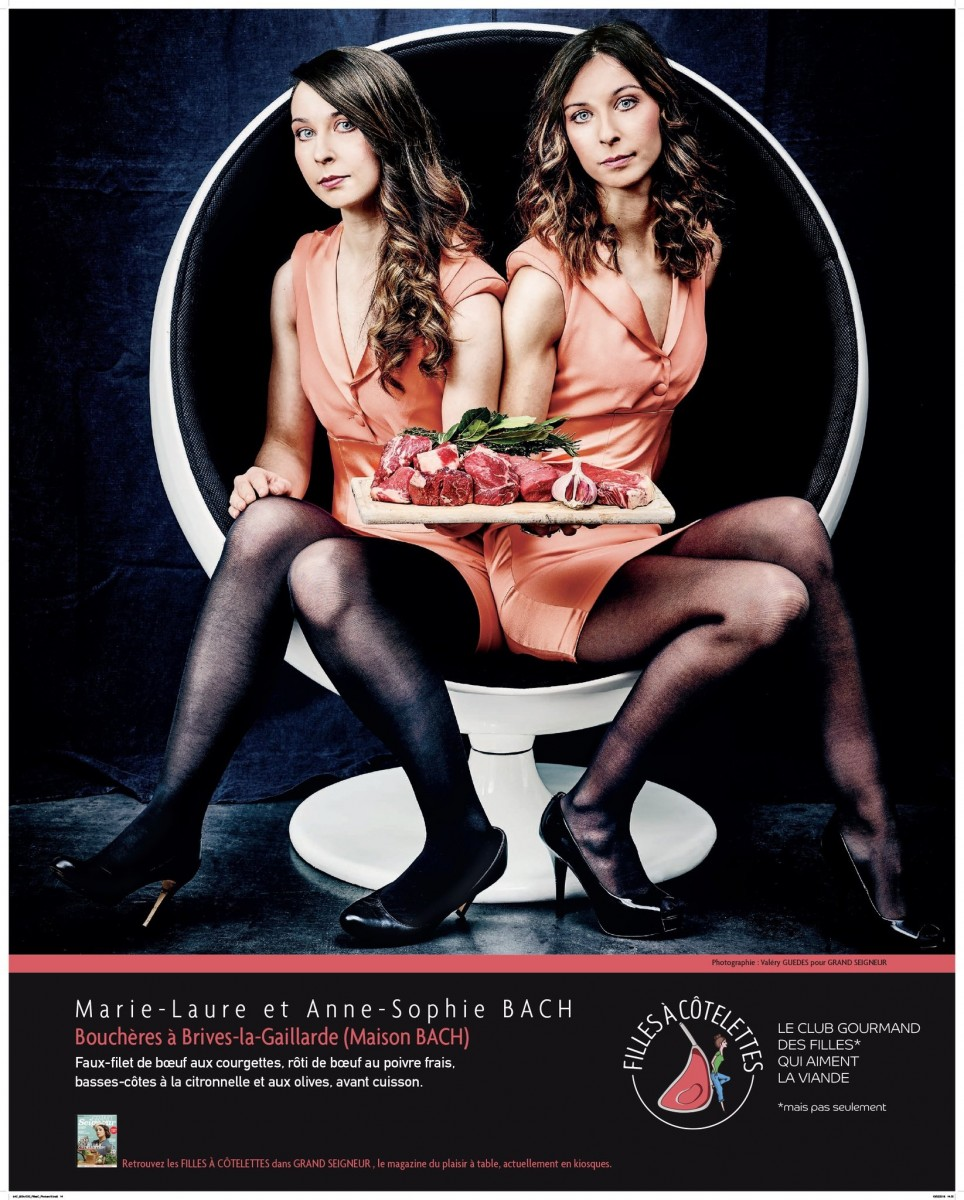 Les filles à côtelettes, le club des filles qui aiment la viande !